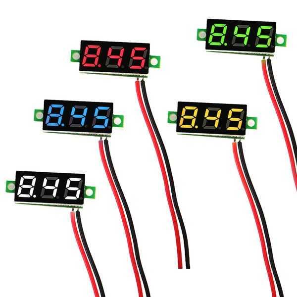 2.5 V-30 V Mini Dijital Beyaz Voltmetre