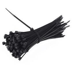 2.5mm x 150mm Kablo Bağı (100 Adet) Siyah - Thumbnail