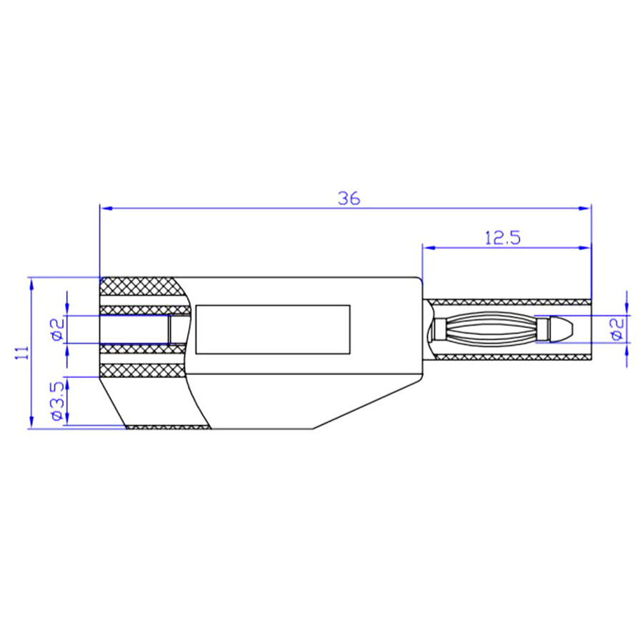 2mm Emniyetli İstiflenebilir Jak - Kırmızı
