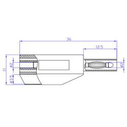 2mm Emniyetli İstiflenebilir Jak - Kırmızı - Thumbnail