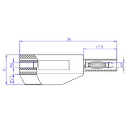 2mm Emniyetli İstiflenebilir Jak - Siyah - Thumbnail