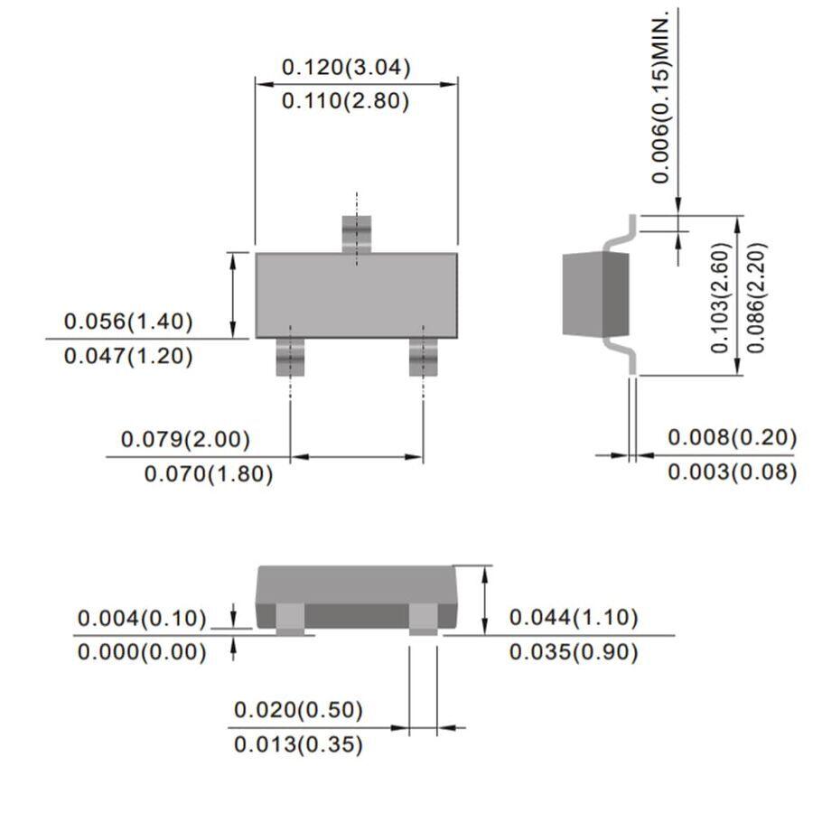2N3906 (MMBT3906) Transistör Pnp Smd Sot-23
