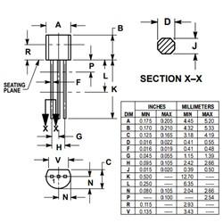 2N4401BU 600mA 40V Npn Transistör TO92 - Thumbnail