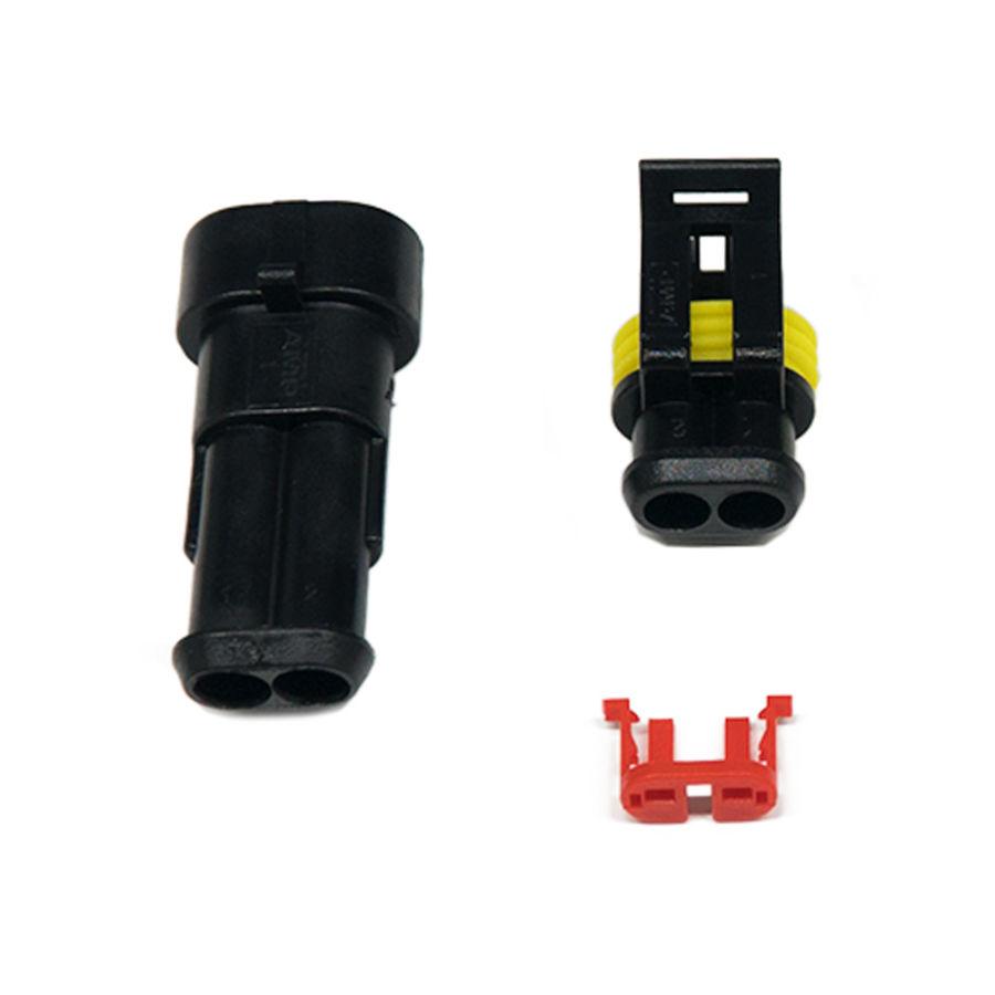 2 Pin Düz Su Geçirmez Konnektör Takım