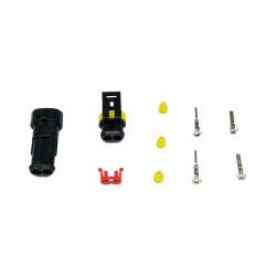 2 Pin Düz Su Geçirmez Konnektör Takım - Thumbnail