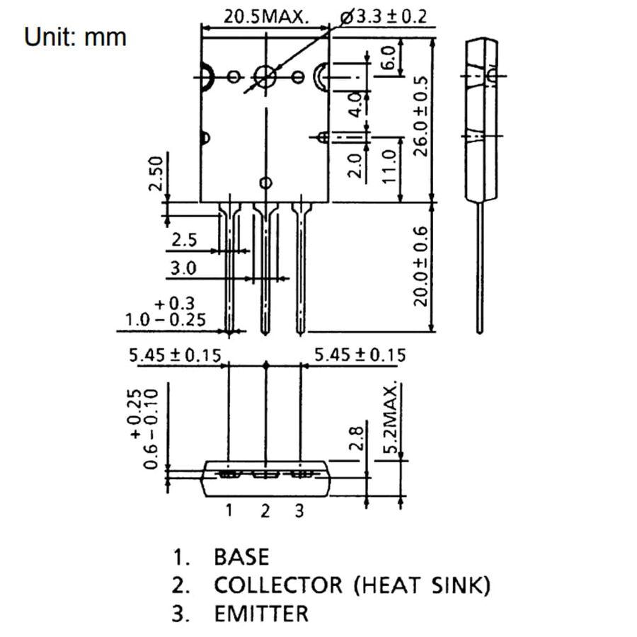 2SA1943 Pnp Tht Güç Transistörü To-264