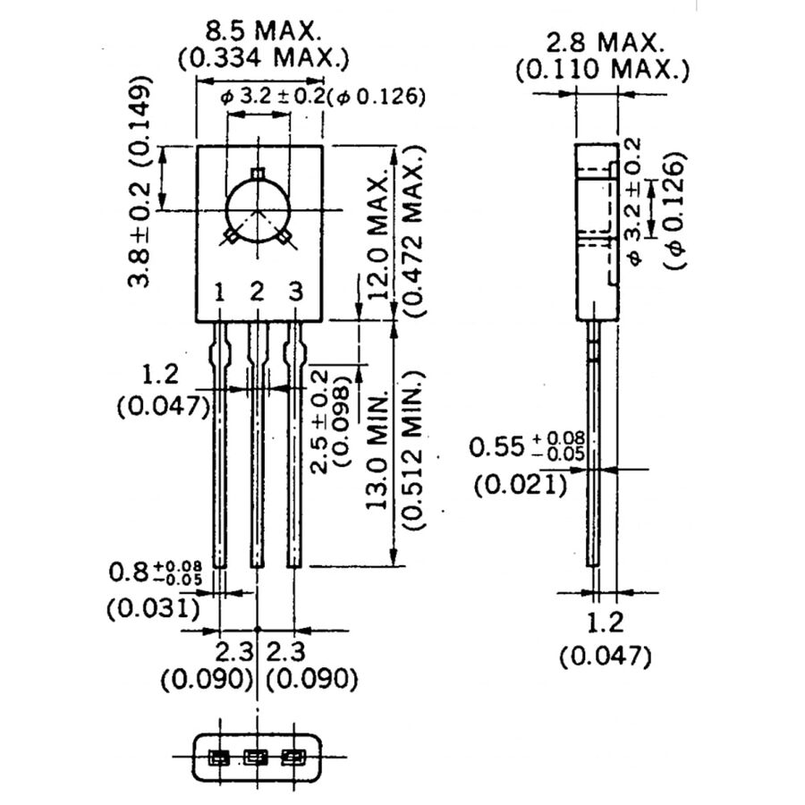 2SD882 Npn Tht Transistör To-126