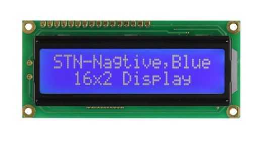 2x16 Karakter LCD Ekran Sol Üst Mavi - PCM1602K-NS(W)-BBW-C-01