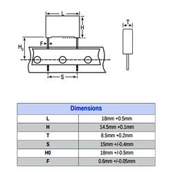 330nF 305VAC 15MM 10% X2 - Polyster Capacitor - Thumbnail