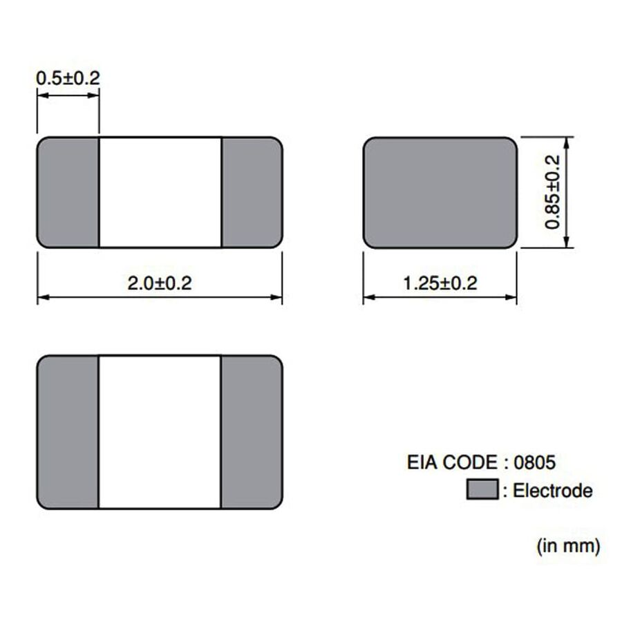 330R 1.5A Smd Ferrit Bead Bobin 0805