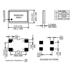 33.333MHz 15pF 50PPM SMD Osilatör Kristal COM1305 - Thumbnail