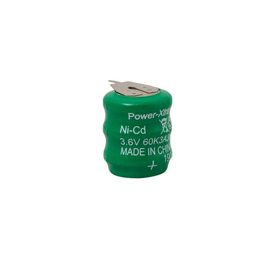3.6V Ni-Cd 60 Mah 3 Pin Şarjlı Pil