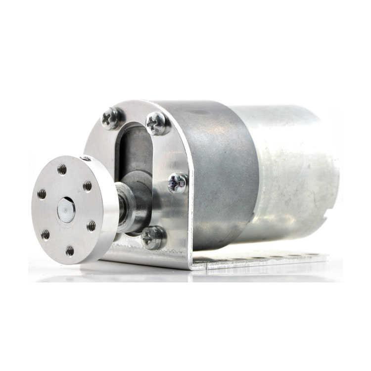 37D mm Redüktörlü Motor Bağlantı Aparatı - Alüminyum Motor Tutucu - L Dirsek