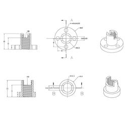 3D Printer T8 Yaylı Somun 4mm - Thumbnail
