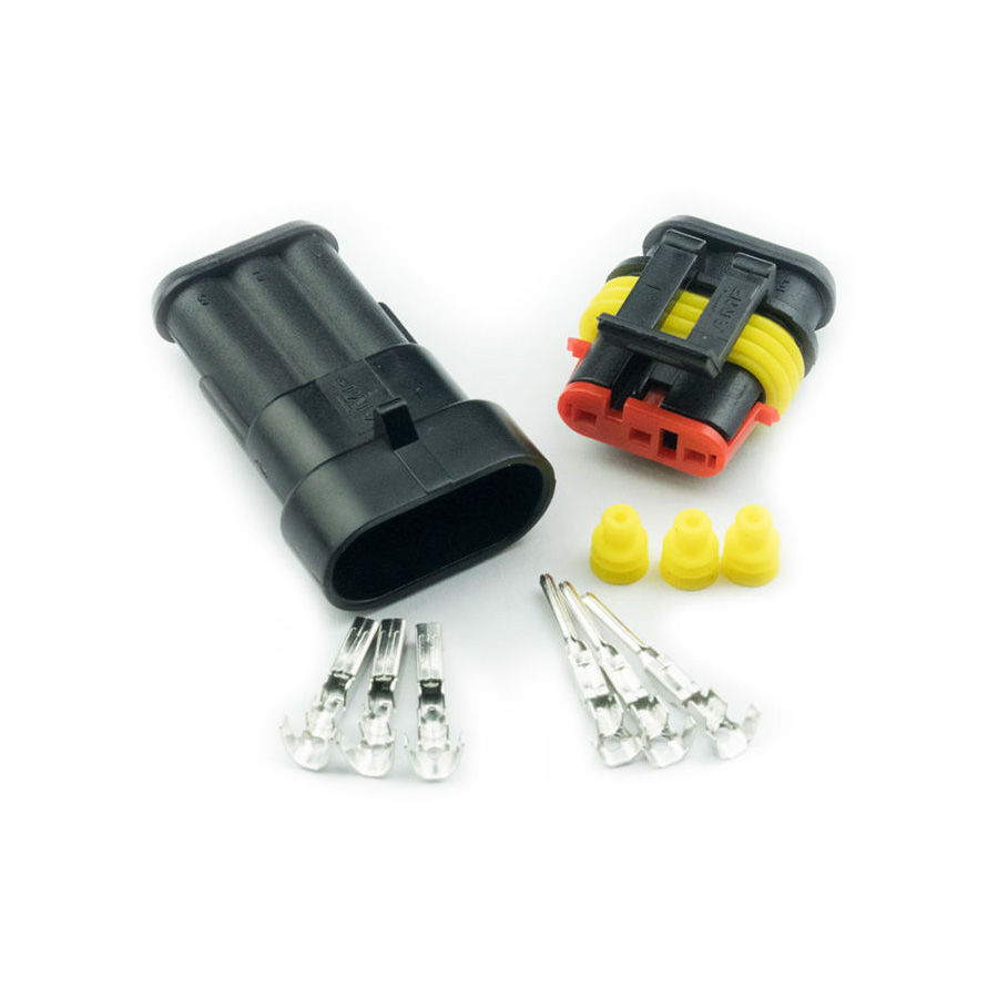 3 Pin Düz Su Geçirmez Konnektör Takım