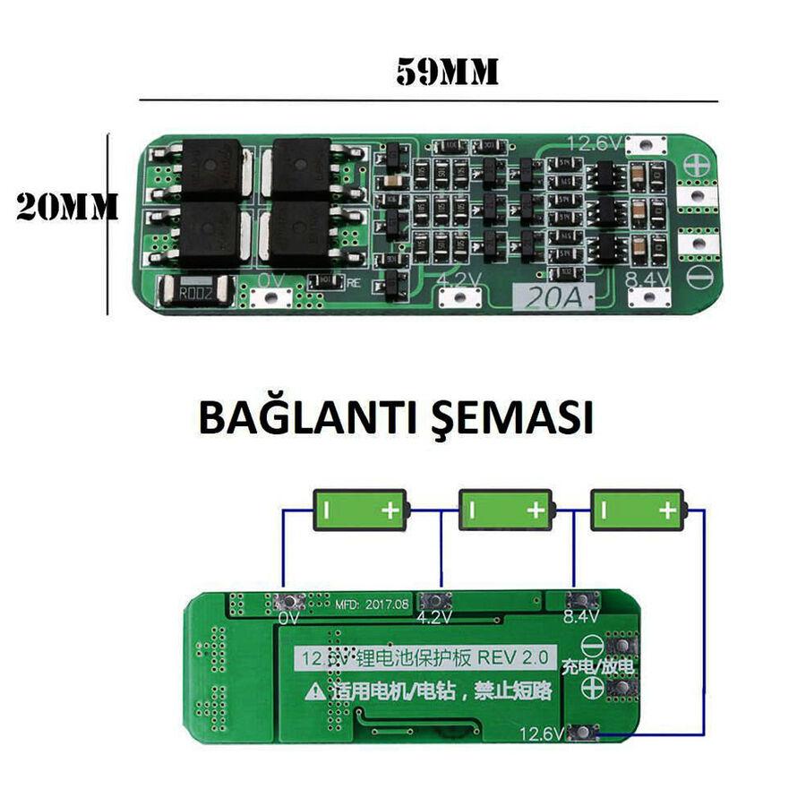 3S 20A LiPo Pil Balans Devresi - Modülü