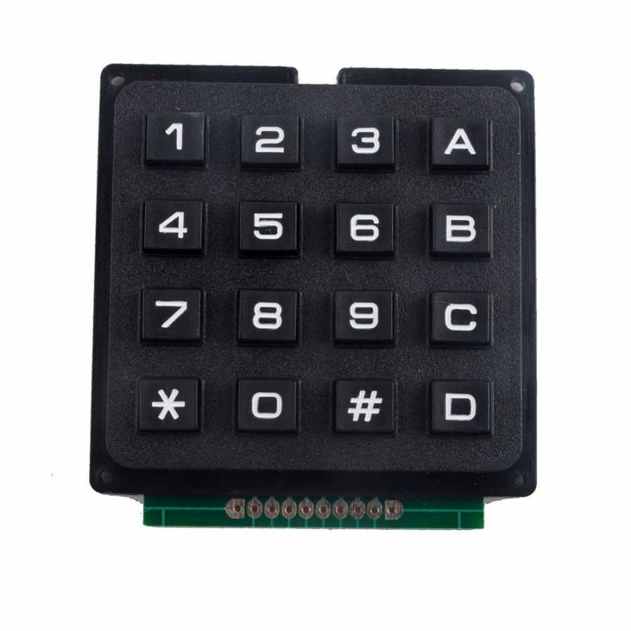 4x4 Telefon Stili Matrix Keypad