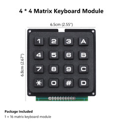 4x4 Telefon Stili Matrix Keypad - Thumbnail