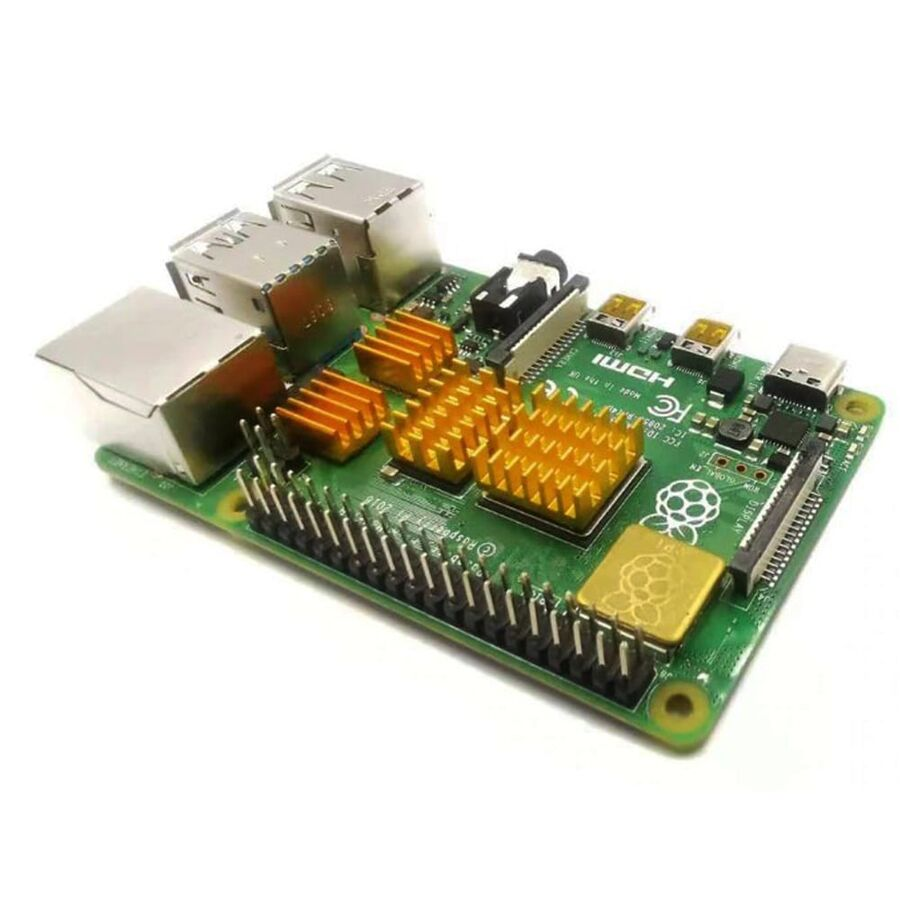4 Adet Raspberry Pi 4B Alüminyum Soğutucu Kiti