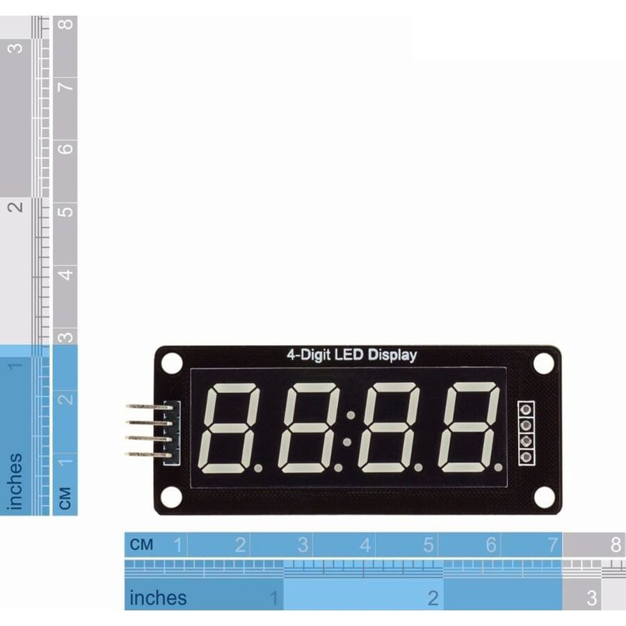 4 Digit Led Display Saat Modül TM1637 - Beyaz