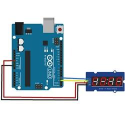 4 Digit Led Display Saat Modül TM1637 - Kırmızı - Thumbnail