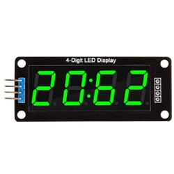4 Digit Led Display Saat Modül TM1637 - Yeşil - Thumbnail
