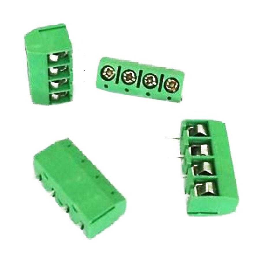 4 Pin 5.00mm Yeşil pcb Klemens