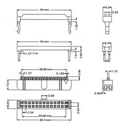 40 Pin IDC Konnektör Dişi FC-40P - Thumbnail
