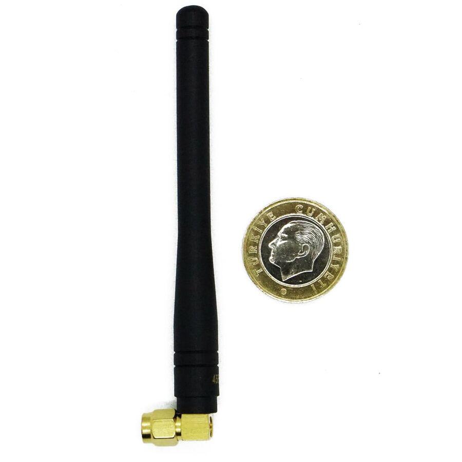 433MHz 100mm 90 Derece Sağ Açılı Sma Male Anten DAA043SA100