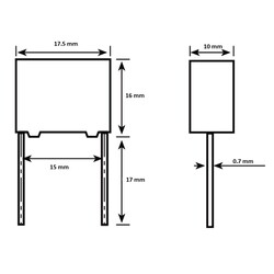 470nF 275VAC 10% Polyester Capacitor 15mm - Thumbnail