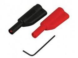 4mm / 25cm Korumalı Test Kablosu Kırmızı - Thumbnail