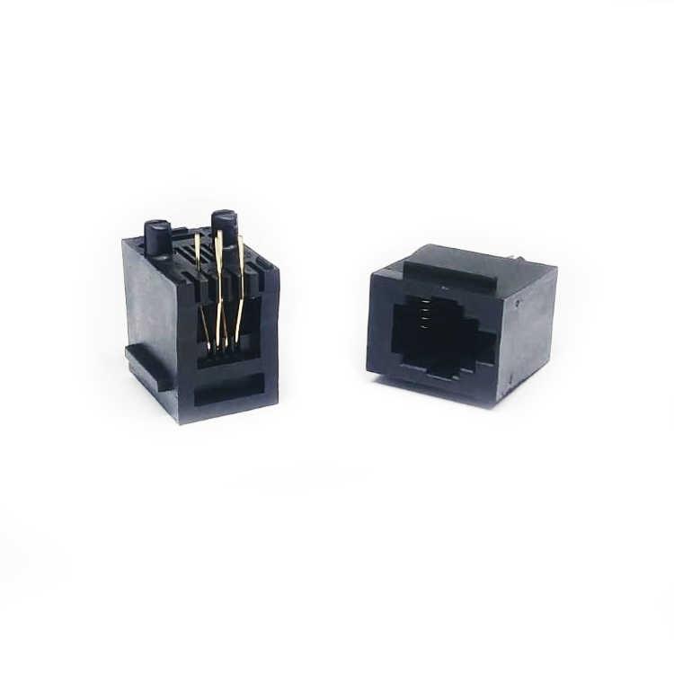 Plastik Dişi 4P4C Konnektör - 180C / 180 Derece