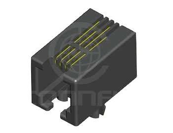 4P4C Plastik Dişi Pcb Konnektör