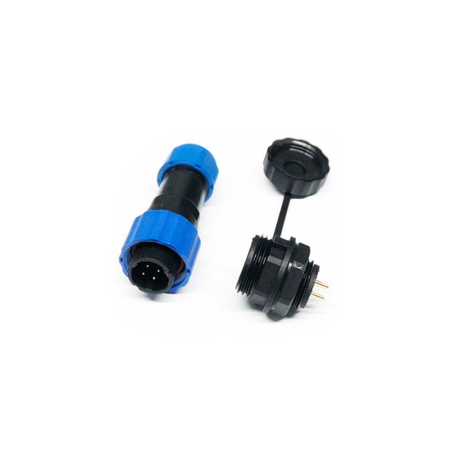 4 Pin IP68 16mm Su Geçirmez Konnektör Takım
