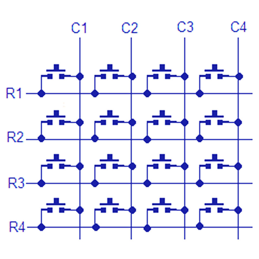 4x4 Matrix Buton Tuş Takımı Modülü