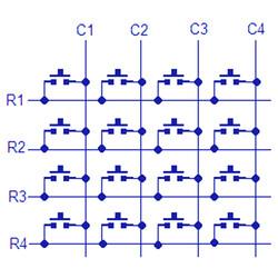 4x4 Matrix Buton Tuş Takımı Modülü - Thumbnail