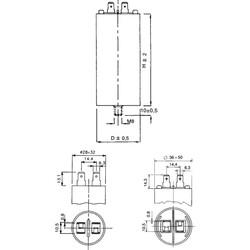 50uF 450Vac 5% Polyester Kondansatör 12mm - Thumbnail