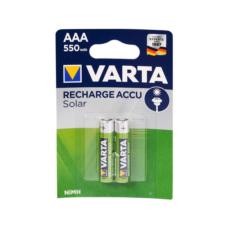 Solar Accu AAA 550 mAh İnce Kalem Pil 2li Blister