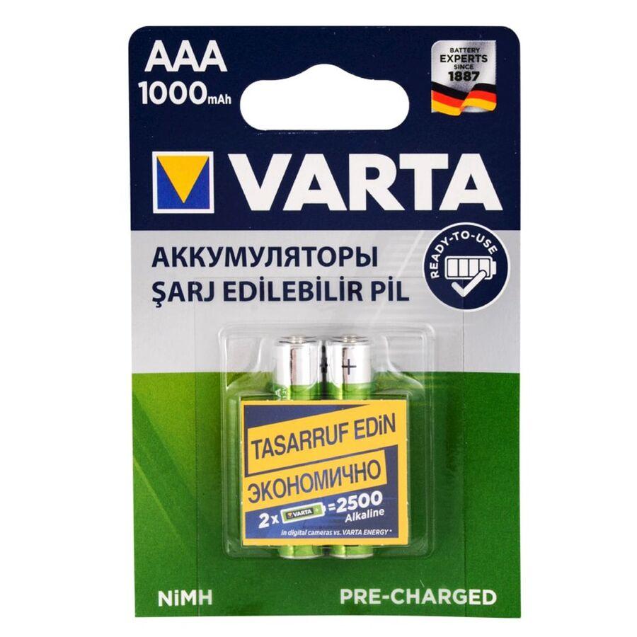 İnce AAA 1000 mAh 2'li Şarjlı Pil
