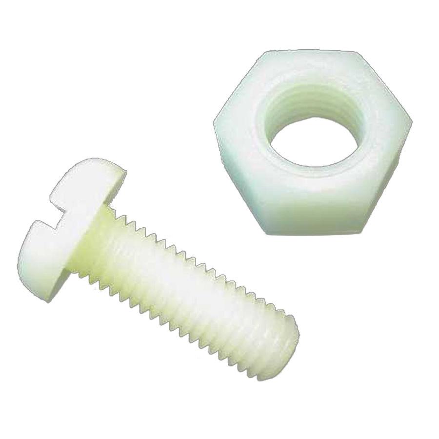 5mm Plastik Vida Somun Takımı - Beyaz