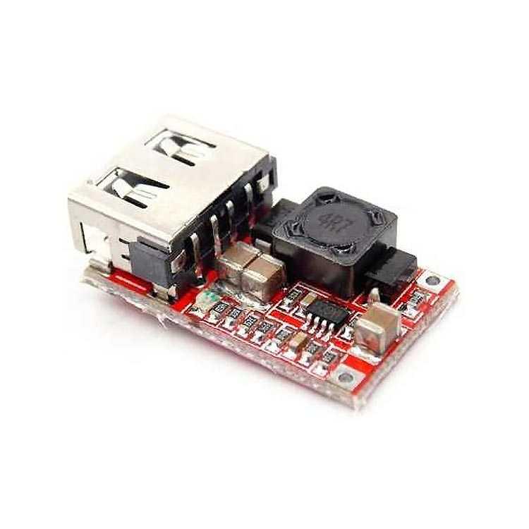 6V ~ 24V Giriş - 5V Çıkış 3A DC DC Çevirici - USB Power Modül