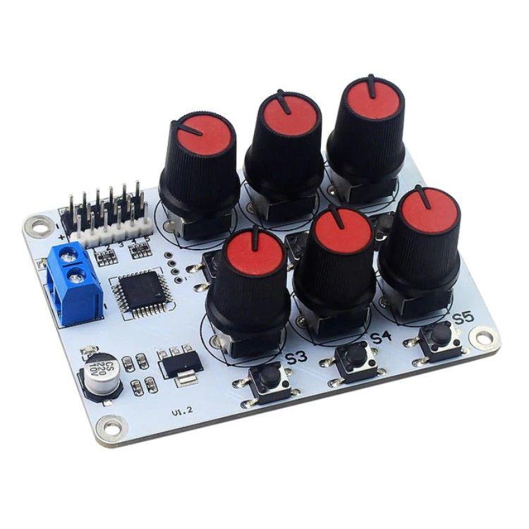 6 Kanal Potansiyometreli Analog Servo Motor Kontrol Kartı