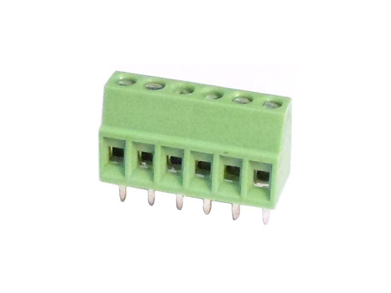 6 Pin 5.00mm Yeşil pcb Klemens
