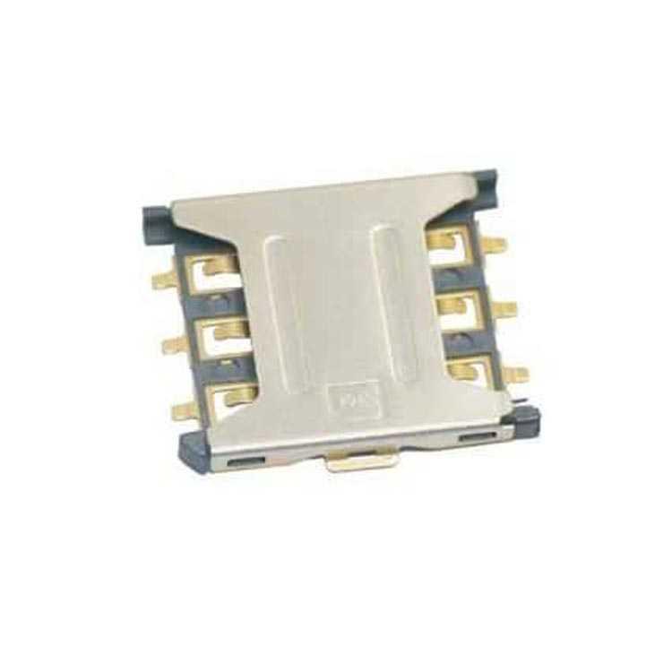 6 Pin Sim Kart Yuvası Slim - SIM-076-6P-H1.35