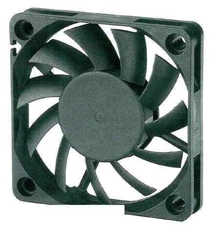 12V 60x60x10mm 0.21A 2.52W 4700rpm Fan