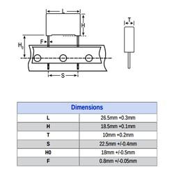 680nF 305VAC 22.5MM 10% X2 - Polyster Capacitor - Thumbnail