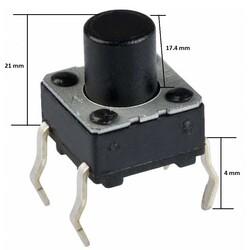 6x6 21mm Tach Buton (4 Bacak) - Thumbnail