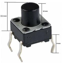6x6 16mm Tach Buton (4 Bacak) - Thumbnail