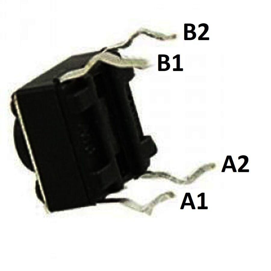6x6 17mm Tach Buton (4 Bacak)