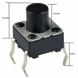 6x6 4.2mm Tach Buton (4 Bacak) - Thumbnail